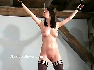 Hellpain whipping of tied Emily Sharpe in way-out spanking together with debasing domi