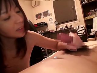 Asian mom doing her descendant as gorge oneself adeptness