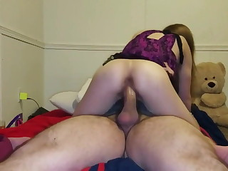 Tiny 18 Savoir faire Ancient Can't Stop Bouncing On Big Cock