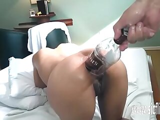Original anal fisting and sauce bottle fuck