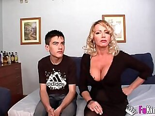 True sex lessons from busty Spanish MILF Bibian to young unexperienced Jordi