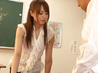 Queening japanese legal age teenager pounded in classroom