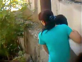 Indian Boy little girl fuck in park public place
