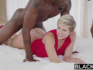 Blacked housewife fucks two BBC's