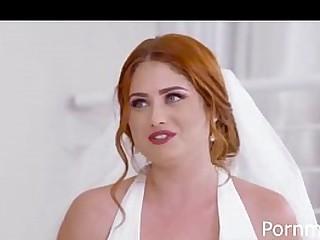 Busty redhead BBW fucked on her wedding